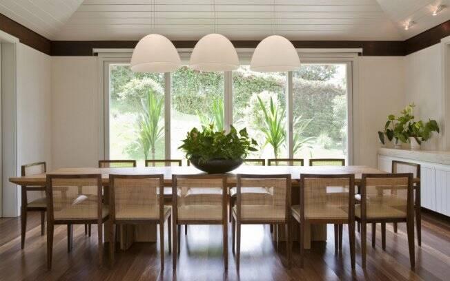 Sala De Jantar Com Janela De Vidro ~ Na sala de jantar há espaço para toda a família Foto Divulgação