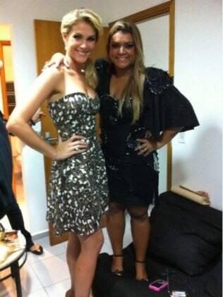 Preta Gil e Ana Hickmann, convidada da festa onde se apresentou em São Paulo