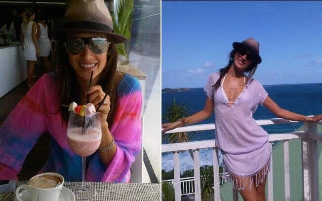Alessandra Ambrosio: momentos de relax antes de voltar para as passarelas