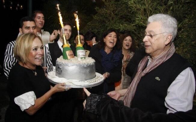 Susana Vieira e Lilia Cabral comemoram aniversário de Aguinaldo Silva