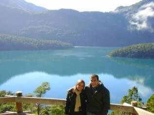 A primeira parte da lua-de-mel de Valquíria e Alex foi em Bariloche
