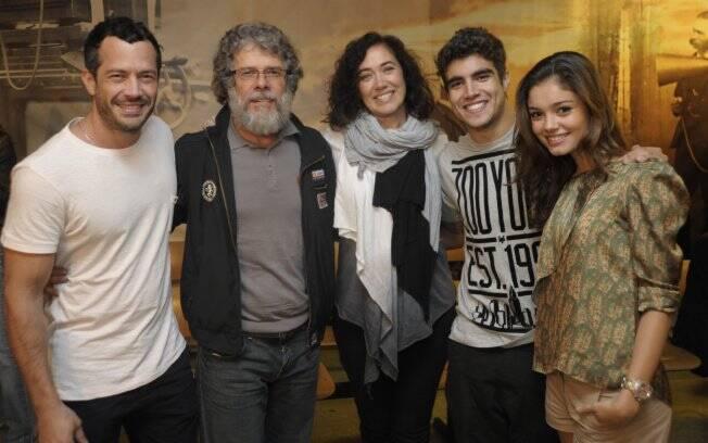 Malvino Salvador, José Mayer, Lília Cabral, Caio Castro e Sophie Charlotte