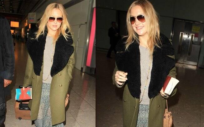 Kate Hudson nesta segunda-feira (24): barriguinha discreta