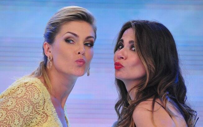 Luciana Gimenez e Ana Hickmann dividiram o palco do