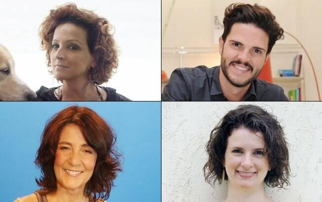 Betty Lago, Guto Requena, Claudia Lisboa e Micaela Góes