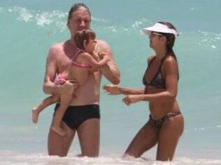 Roberto Justus, Ticiane Pinheiro e Rafaella: férias em Miami