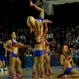 Espetáculo de cheerleaders