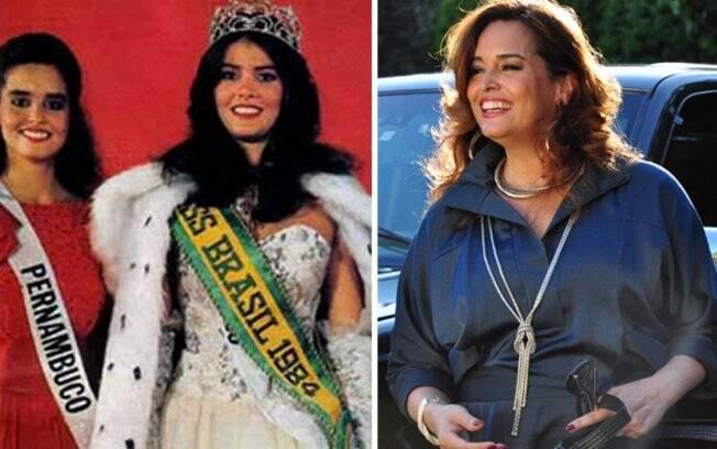 Suzy Rego como Miss Pernambuco (esquerda) e em