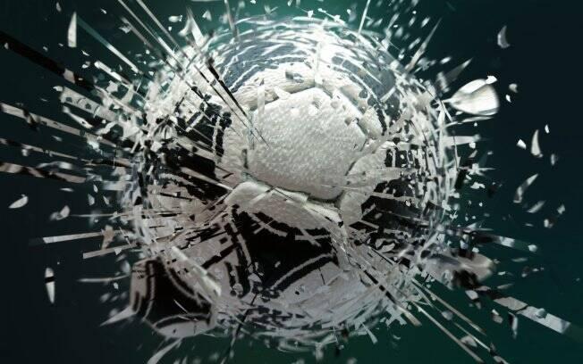 Resultado do Tutorial: bola de futebol despedaçada