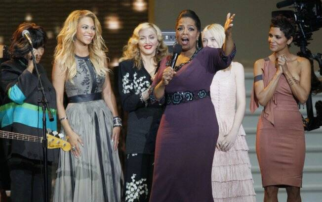 Oprah Winfrey recebeu celebridades como Madonna, Beyoncé, Halle Berry e Dakota Fanning em seu último programa