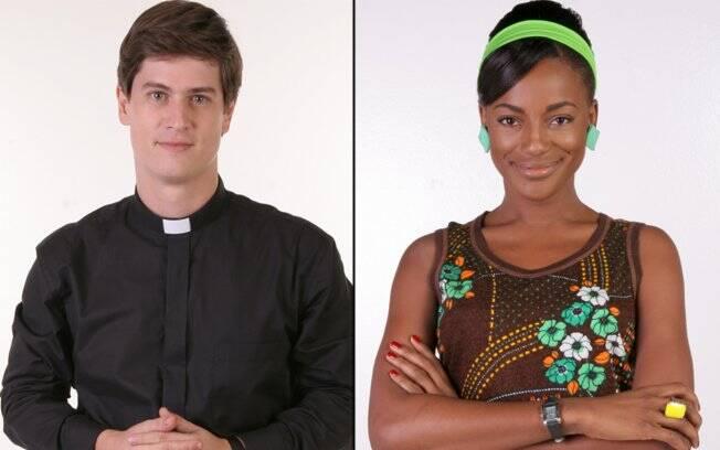 Nina (Patrícia de Jesus) e Padre Inácio (Pedro Lemos): romance consumado