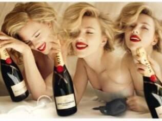 Scarlett Johansson: estrela da nova campanha da Moët Chandon