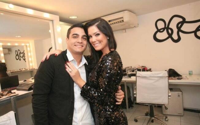 Débora Lyra com o namorado, Hermon Lopes