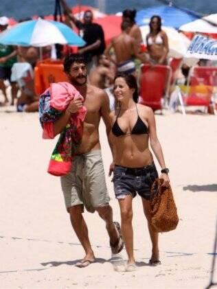 Erika Mader e Pedro Carneiro no Leblon