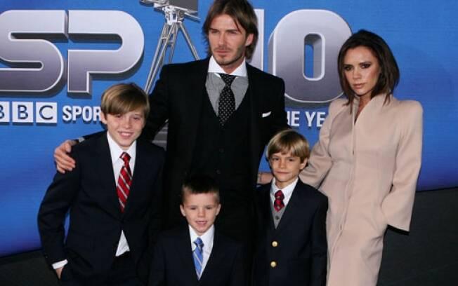 Família Beckham antes da chegada de Harper Seven: família agora está completa