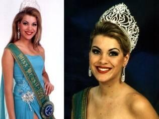 Renata em 1999, quando foi eleita Miss Brasil