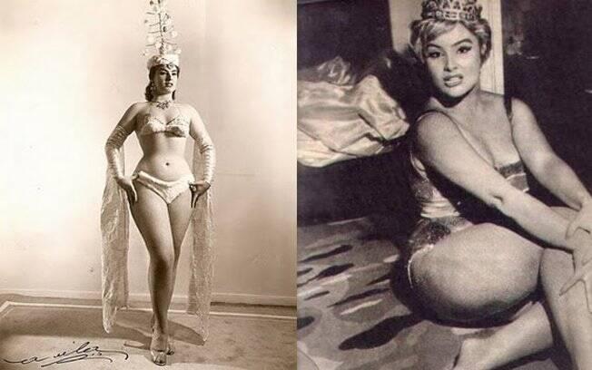 Wilza Carla ficou conhecida por atuar em teatro de revista e em filmes de chanchada na década de 1950