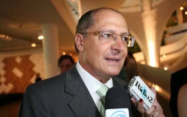 Geraldo Alckmin participa de coletiva de abertura da SPFW