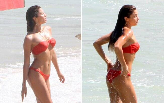 FOTOS: Grazi Massafera filma de biquíni na praia - Gente