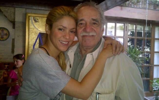 Shakira ao lado de Gabriel García Márquez
