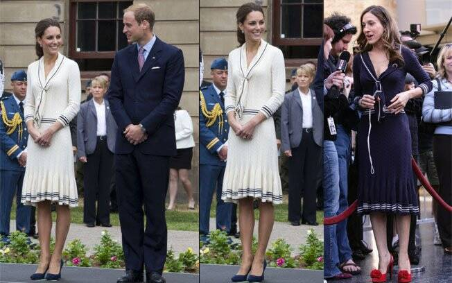 Kate Middleton com William no Canadá nesta semana, e Sarah Jessica Parker em 2006