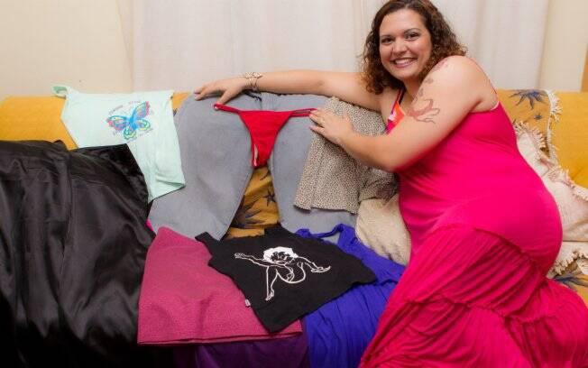 Mariana tem peças de vários tamanho; na reserva, boa parte é guardada em malas