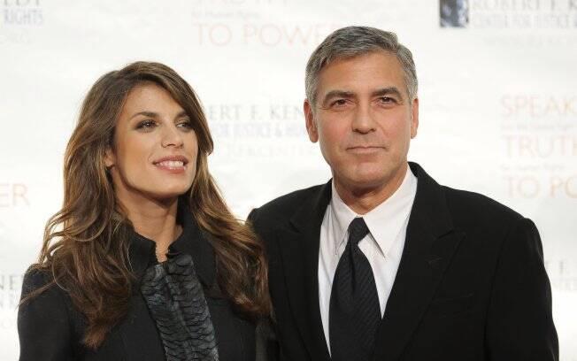Clooney e a atual namorada, Elisabetta Canalis