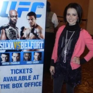 Sandy viajou a Las Vegas para assistir ao UFC