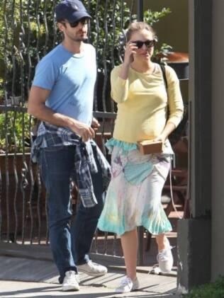 Natalie Portman e o noivo, Benjamin