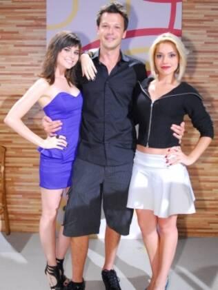 O triângulo amoroso: Julianne Trevisol, Guilherme Berenger Thaís Fersoza