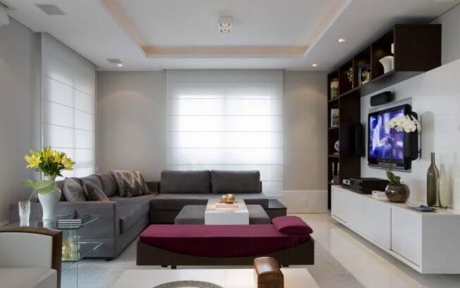 Sala De Tv Com Sofa Roxo ~ Invista no home theater Casa pronta para os amigos Aromas para todos