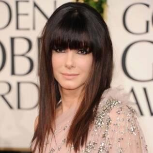 Sandra Bullock no tapete vermelho do Globo de Ouro 2011