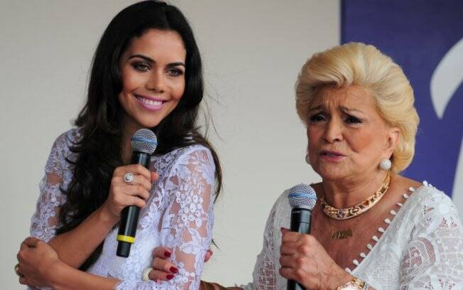 Daniela Albuquerque e Hebe Camargo