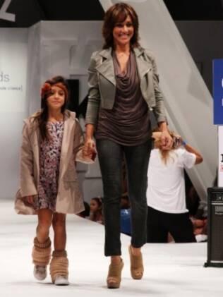 Cynthia Benini e a filha Valentina