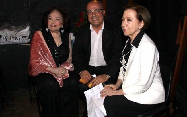 Bibi Ferreira,o secretário de turismo Emílio Kalil e Fernanda Montenegro