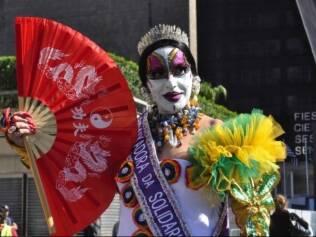 Isabelita na Parada Gay em São Paulo