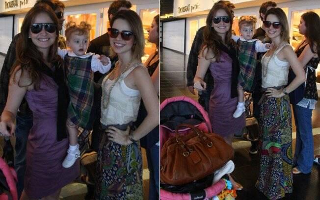 Sandy e Fernanda Rodrigues com a filha da atriz