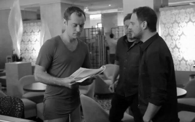 Jude Law: concentração nas filmagens de