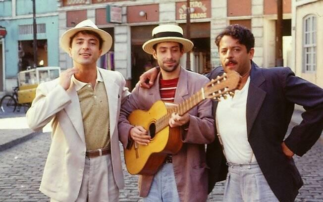 Carlos Alberto Riccelli, Pedro Cardoso e Marcos Paulo em
