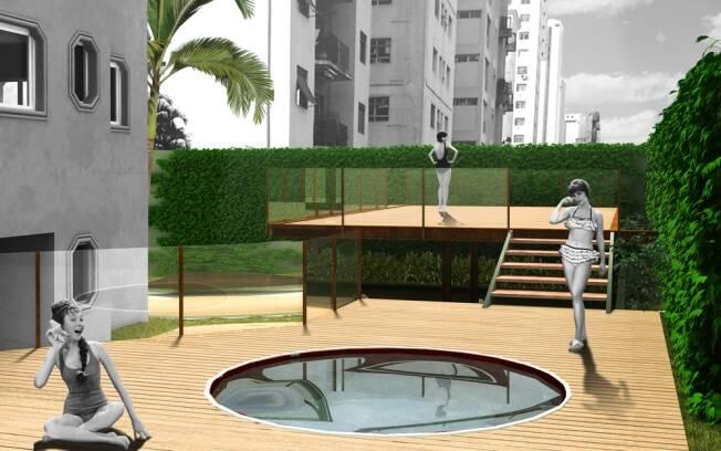 A nova localização da piscina, no projeto do escritório Bracher, Filisetti e Somlo, fez com que ela recebesse luz natural com frequência