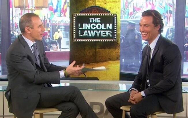 Matthew McConaughey no talk-show de Matt Lauer, na TV americana
