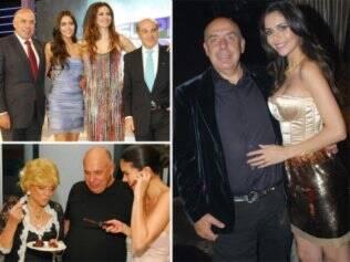 Amilcare e Daniela com Luciana Gimenez e Marcelo de Carvalho; abaixo, com a