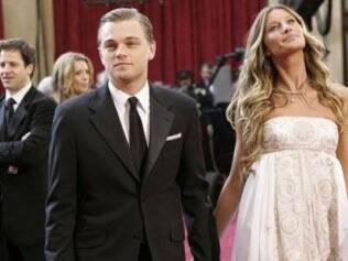 Leonardo DiCaprio e sua ex-namorado Gisele Bündchen