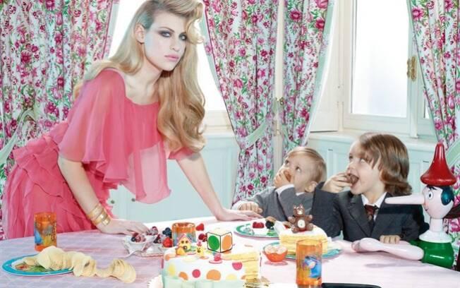 Barbara Berlusconi com os filhos, Edoardo e Alessandro