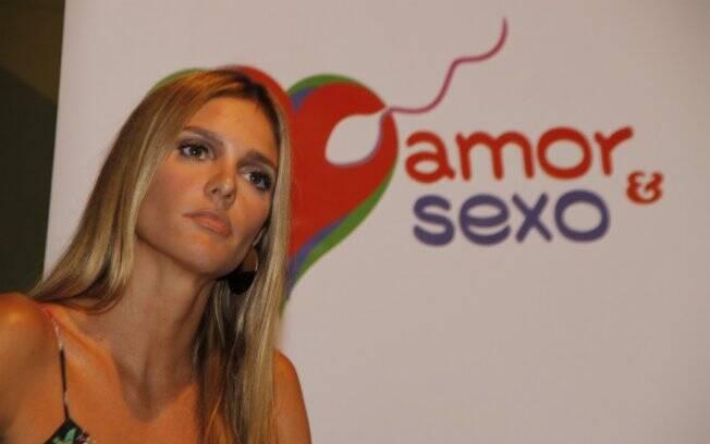 Fernanda Lima durante o lançamento da segunda temporada de