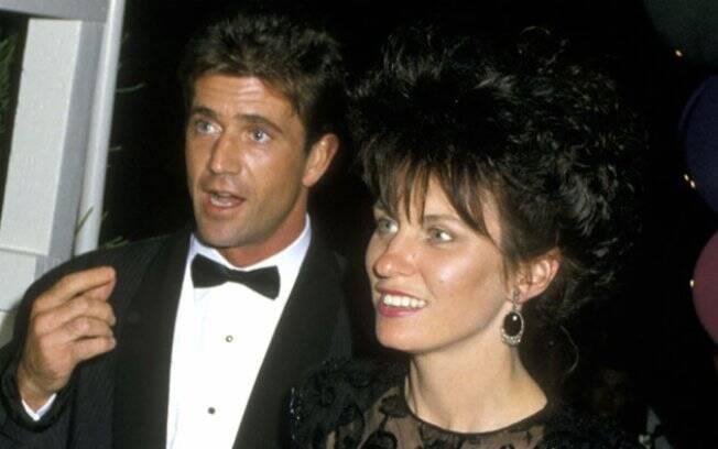 Mel Gibson e a ex-mulher Robyn: os dois foram casados por 28 anos e têm sete filhos