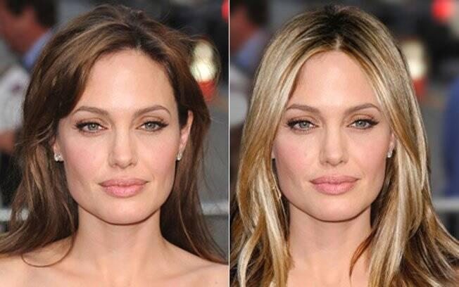 Colocamos o cabelo de Jennifer Aniston em Angelina Jolie