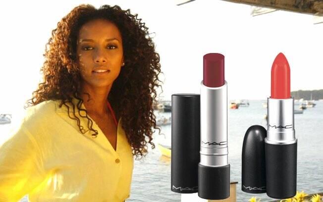 Vermelho escuro: Pro Longwear Extended Play   Laranja forte: Lady Danger Lipstick
