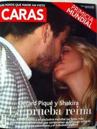 Shakira e Gerard Piqué: beijo é capa de revista colombiana