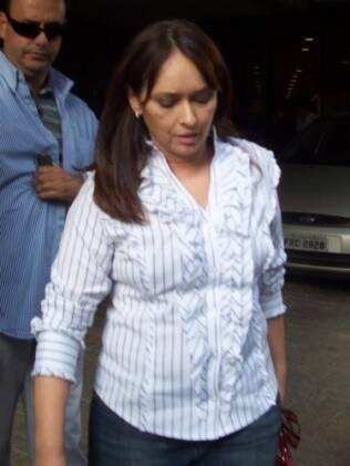 Myriam Rios deixa hospital